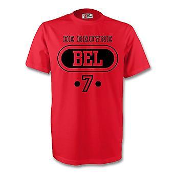 Kevin De Bruyne Belgien Bel T-shirt (rød) - børn