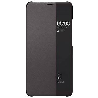 Huawei smart view Flip case for mate 10 Pro protective sleeve Brown