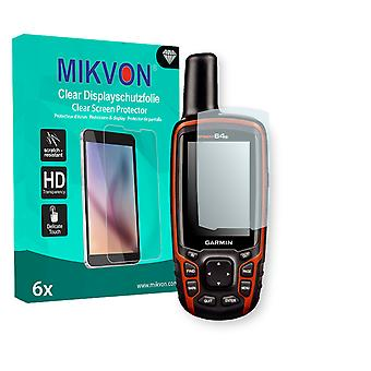 Garmin GPSMAP 64s Screen Protector - Mikvon Clear (Retail Package with accessories)