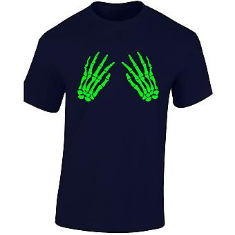 Skelett Hände Front Glow In The Dark Kostüm Fancy Dress Halloween Kinder Unisex T-Shirt 8 Farben (XS-XL) von swagwear
