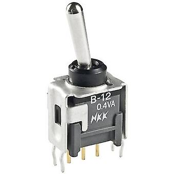 Toggle switch 28 Vdc 0.1 A 1 x On/On NKK Switches
