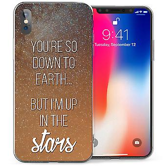 iPhone X на землю звезд цитатой гель ТПУ