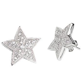 Sterling 925 Silver earrings - STAR 19 mm