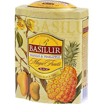 Basilur Tea Magic Fruits Mango & Pineapple Loose Tea In Tin Caddy 100G