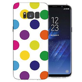 Samsung Galaxy S8 flerfärgad prickiga TPU Gel Case