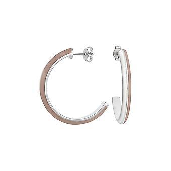 ESPRIT women's earrings Creole stainless steel Silver Marin 68 cappuchino ESER11113B000