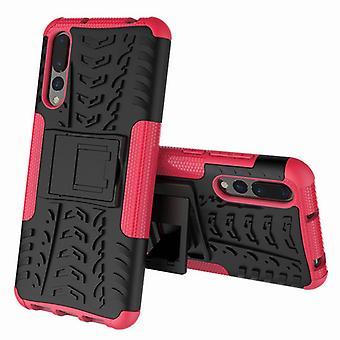 Hybrid fall 2 bit SWL utomhus rosa för Huawei P20 case väska fodral cover skydd