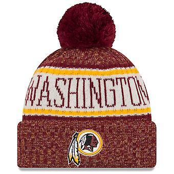 New era NFL sideline 2018 Bobble Hat - Washington Redskins