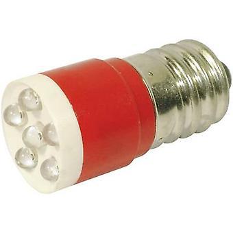 LED bulb E14 Red 24 Vdc, 24 V AC 1260 mcd CML