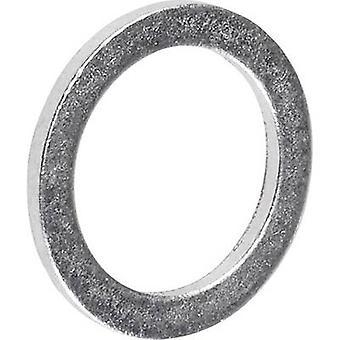 Diámetro interior de anillo TOOLCRAFT 893842 sellado: 8 mm DIN 7603 aluminio 100 PC