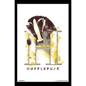 Harry Potter - Hufflepuff Illustrated Poster Print