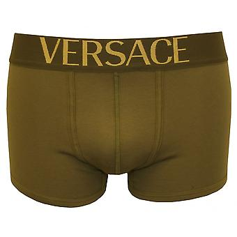 Versace Apollo Low-Rise Boxer Trunk, Military