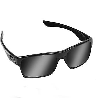 TWOFACE Replacement Lenses Polarized Black & Black Iridium by SEEK fits OAKLEY