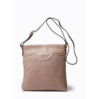 Viver Alma Stone Leather Crossbody Bag