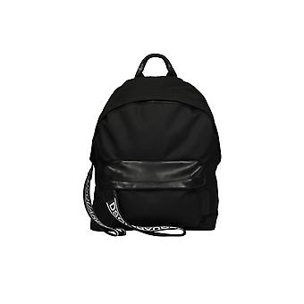 DSQUARED2 BLACK LOGO BACKPACK