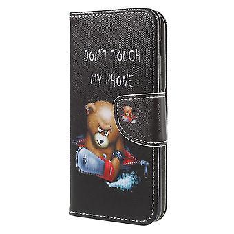 Samsung Galaxy A8 (2018) Brieftasche Fall-Bär mit Säge