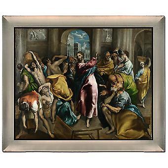 Mit der Reinigung des Tempels, El Greco, 61x51cm
