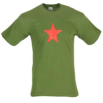 New Combat With Star Printed T-shirt