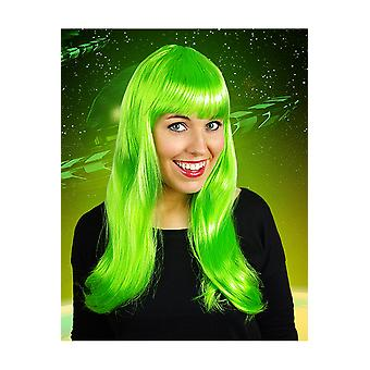 Wigs  Long wig with fringe bright green