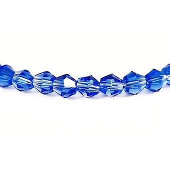 ستراند 80 + الزجاج الكريستال التشيكي الأزرق 4 مم بيكون الوجوه الخرز GB8638-2