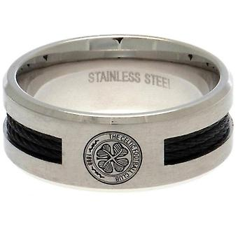Celtic FC Black Inlay Ring