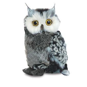 极光浮华 - 大角猫头鹰软玩具 22 厘米