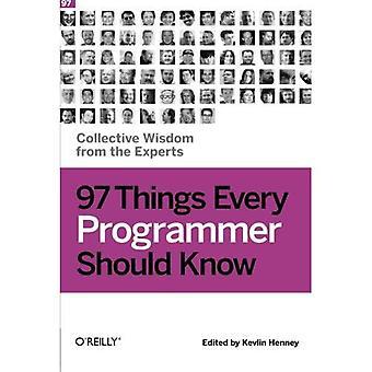 97 cose ogni programmatore dovrebbe sapere: saggezza collettiva da parte degli esperti