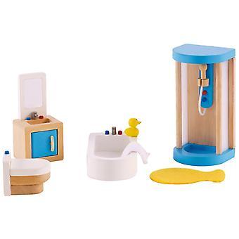 Jeu d'imitation enfant jeux jouets Salle de bains pour maison de poupée 0102102