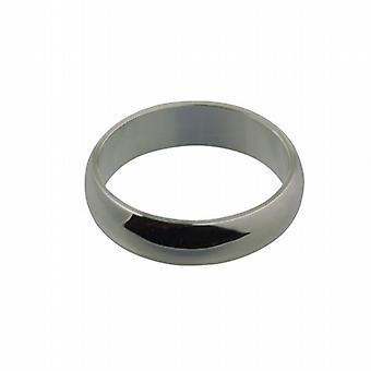Platinum 6mm plain D shaped Wedding Ring Size Z