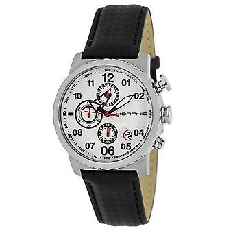 Morphic M38 Series Chronograph Men?s Watch w/ Date - Silver