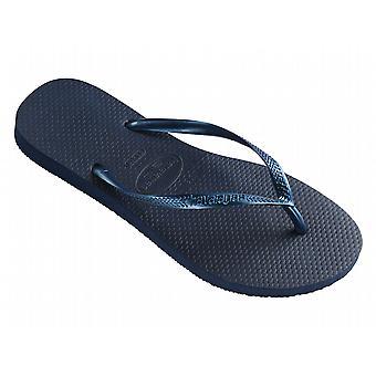 Havaianas Slim Women's Flip Flops - Navy Blue