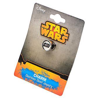 Stainless Steel Star Wars Logo Bead Charm