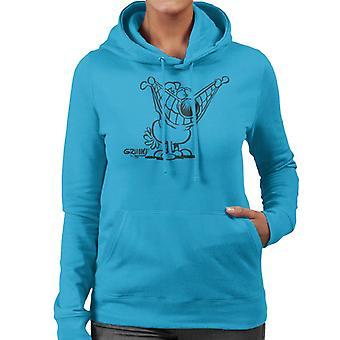 Grimmy Pulling A Smile Women's Hooded Sweatshirt