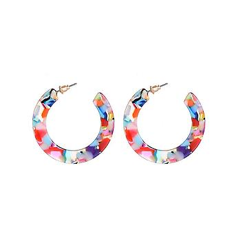 Jewelcity Sunkissed Womens/Ladies Havana Hoop Earrings