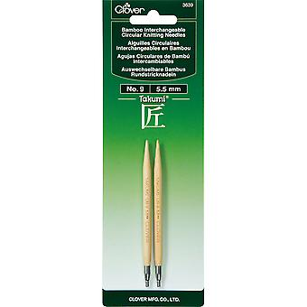 Takumi Bamboo Interchangeable Circular Knitting Needles-Size 9/5.5mm TBICKN-3639
