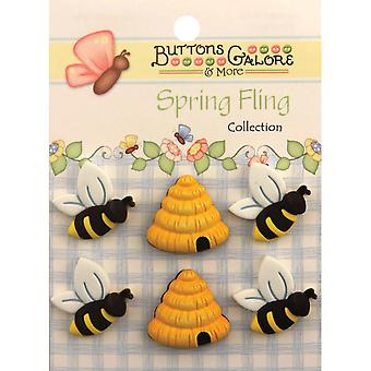 Spring Buttons Busy Bees Sf 100