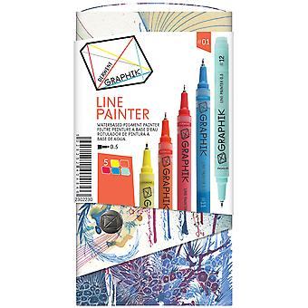 Graphik Line Painter Set 5 Pkg Palette #1 230 2230