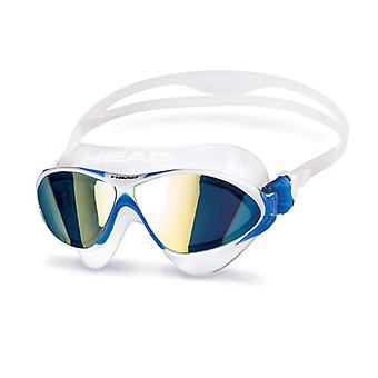 Head Horizon Swim Goggle - Mirrored Lens - Clear/White/Blue