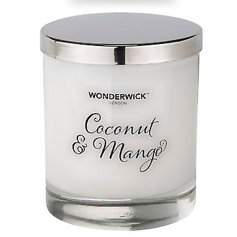 Wonderwick Blanc Candle in Glass - Coconut & Mango