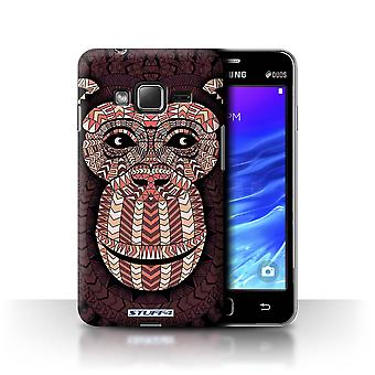 STUFF4 Tilfelle/Cover for Samsung Z1/Z130/Monkey-Red/Aztec dyr