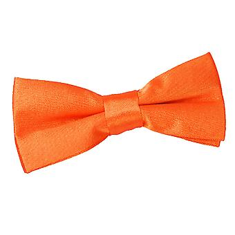 Boy's Burnt Orange Plain Satin Pre-Tied Bow Tie