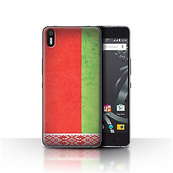 STUFF4 Case/Cover for BQ Aquaris X5/Belarus/Belarusian/European Flag
