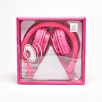 Super Sound Wireless Earphone 4 in 1 Headset - Pink