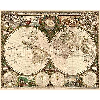 World Map Poster Print by  Frederick De Wit