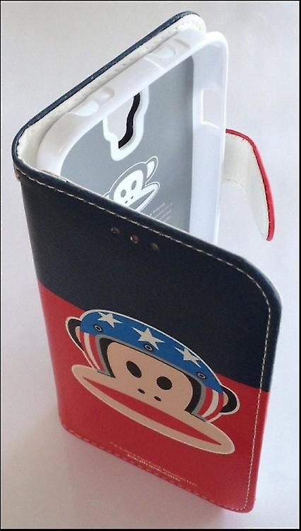 Original Paul Frank ® diary bag cover leatherette for Samsung Galaxy S4 / LTE with design helmet blue