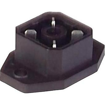Hirschmann 932 092-100 G 4 A 5 M Mounted Connector With Flange And Solder Contacts Black Number of pins:4