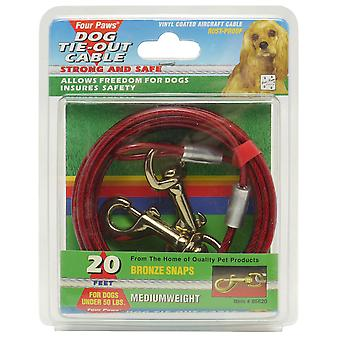 Four Paws Medium Weight Cable Red 6m (20ft)
