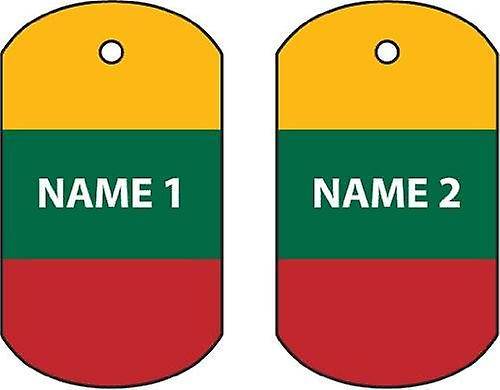 Personalised Lithuania Dog Tag Car Air Freshener