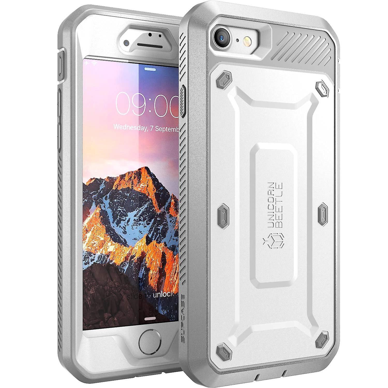 SUPCASE-Apple iPhone 7,Unicorn Beetle PRO Series Case-White/Gray