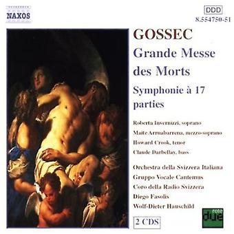 F. Gossec - Gossec: Grande Messe Des Morts / import USA Symphonie 17 Parties [CD]